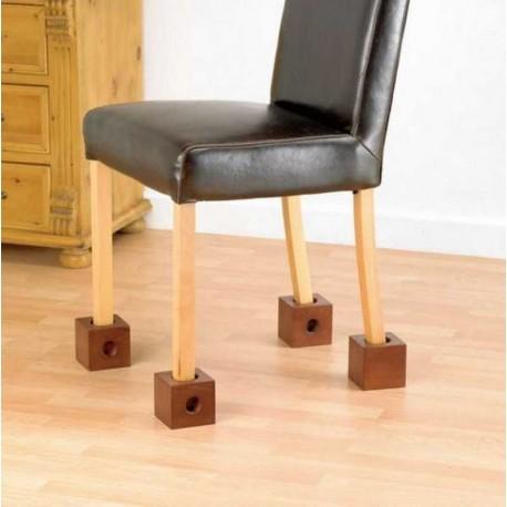 Cubes en bois pour chaises