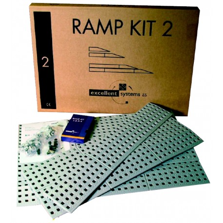 Kit rampe n°2 - 75 cm de large 4 à 7.5 cm de haut