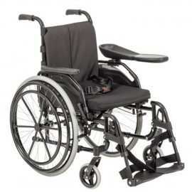 Fauteuil roulant double main courante
