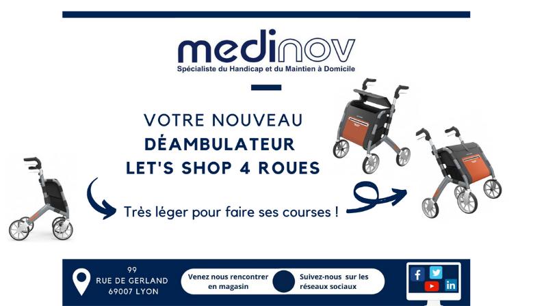 Déambulateur Let's shop 4 roues